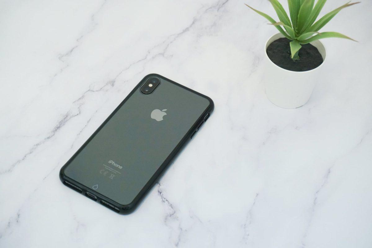 כיסוי לאייפון - שקוף בעל מסגרת שחורה - iPhone XS MAX