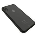 כיסוי לאייפון - שקוף בעל מסגרת שחורה - iPhone XR
